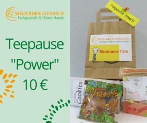 Mutmachtüten Teepause Power Weltladen Dornheim